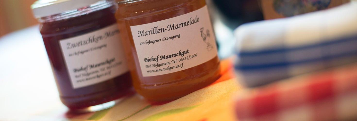 Hofeigene Produkte - Biohof Maurachgut in Bad Hofgastein
