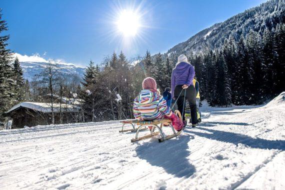Rodeln, Winterurlaub, Gastein, Salzburger Land